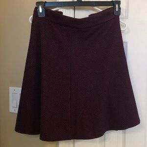 Red and black chevron circle skirt